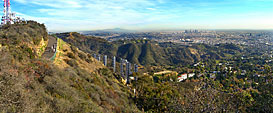 Griffith Park and the Hollywood sign
