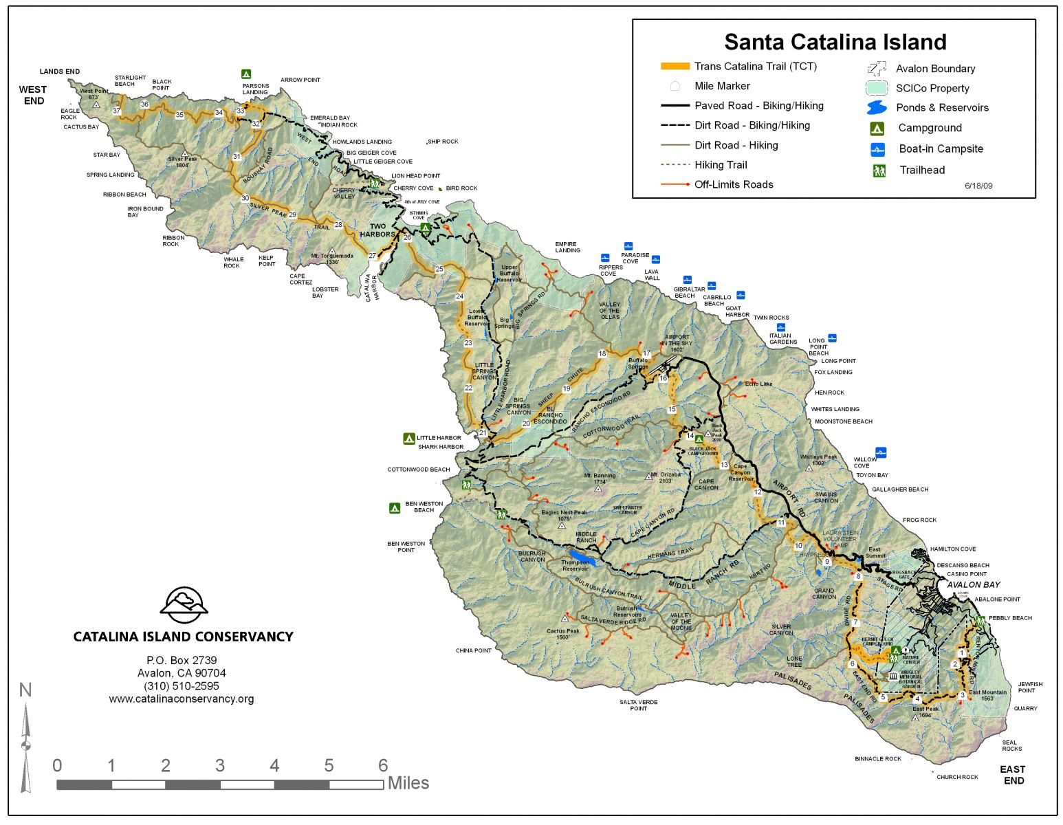 trans catalina trail map